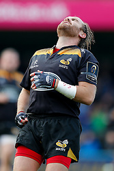Wasps Fly-Half Andy Goode looks dejected after missing a conversion - Photo mandatory by-line: Rogan Thomson/JMP - 07966 386802 - 14/12/2014 - SPORT - RUGBY UNION - High Wycombe, England - Adams Park Stadium - Wasps v Castres Olympique - European Rugby Champions Cup Pool 2.