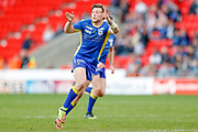 Doncaster RLFC interchange Kieran Cross (15) in action  during the Challenge Cup 2018 match between Doncaster and Featherstone Rovers at the Keepmoat Stadium, Doncaster, England on 22 April 2018. Picture by Simon Davies.