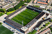 Nederland, Noord-Holland, Volendam, 05-08-2014;  stadion FC Volendam; Kras Stadion aan de Sportlaan.<br /> Soccer stadium.<br /> luchtfoto (toeslag op standard tarieven);<br /> aerial photo (additional fee required);<br /> copyright foto/photo Siebe Swart