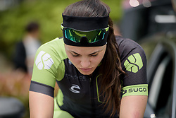 Rachele Barbieri warms up before the Tour of Chongming Island - Stage 2. A 135.4km road race from Changxing Island to Chongming Island, China on 6th May 2017.