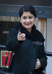 © Licensed to London News Pictures. 09/10/2016. London, UK. Labour peer Baroness Shami Chakrabarti leaves the ITV studios after appearing on ITV's Peston on Sunday show. Photo credit: Peter Macdiarmid/LNP