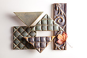 Black Rock Hand-Made Tiles by Catherine Carroll
