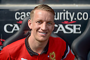 MK Dons midfielder Carl Baker during the Sky Bet Championship match between Milton Keynes Dons and Nottingham Forest at stadium:mk, Milton Keynes, England on 7 May 2016. Photo by Dennis Goodwin.