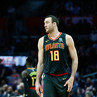 08 January 2018: Atlanta Hawks center Miles Plumlee (18) is seen during the LA Clippers 108-107 victory over the Atlanta Hawks, at the Staples Center, Los Angeles, California, USA.