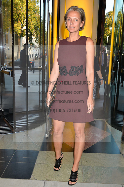 SAFFRON ALDRIDGE at a private view of 'Horst: Photographer of Style' at The V&A Museum, London on 3rd September 2014.