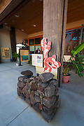 Interpretive display at Puukohola Heiau National Historic Site, Kohala Coast, The Big Island, Hawaii USA