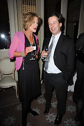 CATHERINE BAILEY and JONATHAN CAVENDISH at a party to celebrate Penguin's reissue of Nancy Mitford's 'Wigs on The Green' hosted by Tatler at Claridge's, Brook Street, London on 10th March 2010.