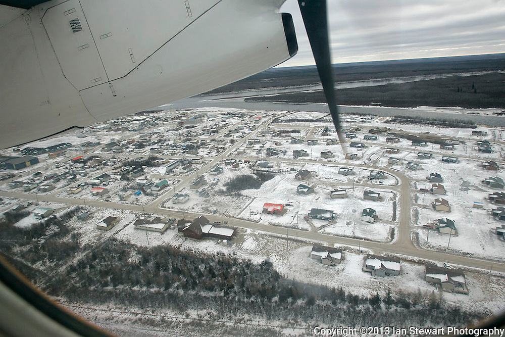 Flying out of Attawapiskat. <br /> <br /> (Ian Stewart photo)