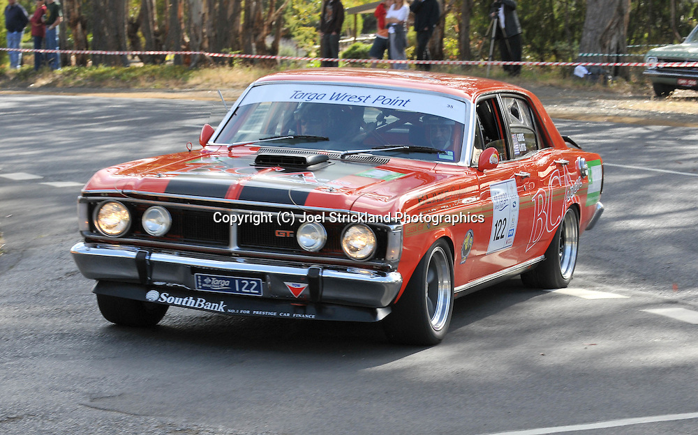 George Nittis & Stuart Boyce.1969 Ford XY GT HO.Day 2.Targa Wrest Point 2009.Southern Tasmania.1st of February 2009.(C) Joel Strickland Photographics.