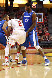 14 November 2016:  Xzavier Taylor(22) screens off DJ Clayton(2) during an NCAA  mens basketball game between the Indiana Purdue Fort Wayne Mastodons the Illinois State Redbirds in Redbird Arena, Normal IL