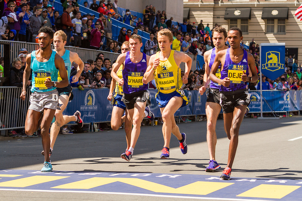 Boston Marathon: BAA 5K road race, Invitational Mens Mile, start