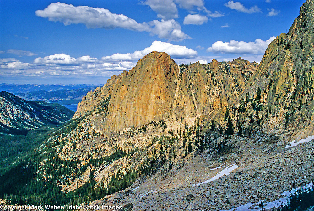 Sawtooth Mountains, The Elephant's Perch in Redfish Creek Canyon high in The Sawtooth Mountains of central Idaho