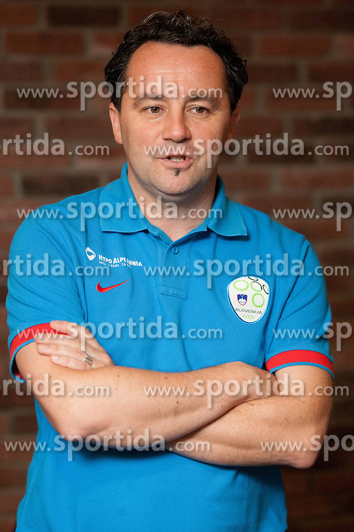 Slavisa Stojanovic after the press conference of Slovenian National football team at training camp for World Cup Brasil 2014 Qualifications on October 8, 2012 in Hotel Primus, Ptuj, Slovenia. (Photo By Vid Ponikvar / Sportida)
