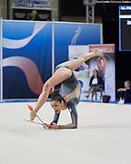 Caterina Allovio from Armonia D'Abruzzo team during the Italian Rhythmic Gymnastics Championship in Padova, 25 November 2017. Federica Pettinelli from Armonia D'Abruzzo team during the Italian Rhythmic Gymnastics Championship in Padova, 25 November 2017.