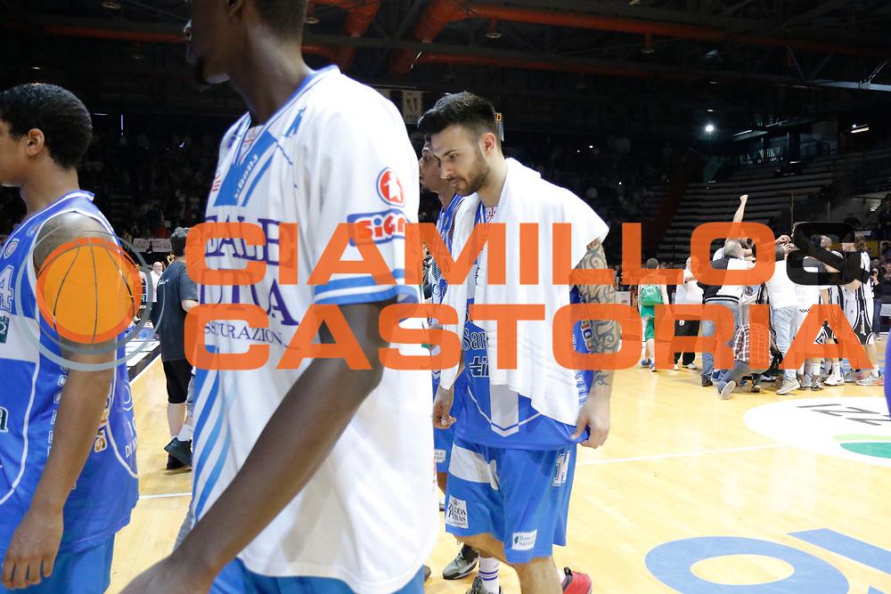 DESCRIZIONE : Caserta Lega A 2014-15 Pasta Reggia Caserta Banco di Sardegna Sassari<br /> GIOCATORE : Brian Sacchetti<br /> CATEGORIA : delusione<br /> SQUADRA : Banco di Sardegna Sassari<br /> EVENTO : Campionato Lega A 2014-2015<br /> GARA : Pasta Reggia Caserta Banco di Sardegna Sassari<br /> DATA : 26/04/2015<br /> SPORT : Pallacanestro <br /> AUTORE : Agenzia Ciamillo-Castoria/A. De Lise<br /> Galleria : Lega Basket A 2014-2015 <br /> Fotonotizia : Caserta Lega A 2014-15 Pasta Reggia Caserta Banco di Sardegna Sassari