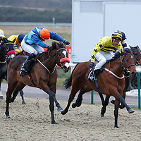 The Scuttler and Daniel Cremin winning the 5.40 race