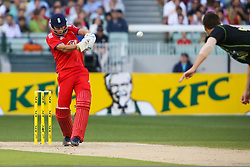 © Licensed to London News Pictures. 26/12/2013. Alex Hales batting during the 2nd T20 international between Australia Vs England at the Melbourne Cricket Ground, Victoria, Australia. Photo credit : Asanka Brendon Ratnayake/LNP