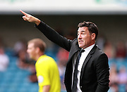 Chesterfield Manager Dean Saunders during the Sky Bet League 1 match between Millwall and Chesterfield at The Den, London, England on 29 August 2015. Photo by Bennett Dean.