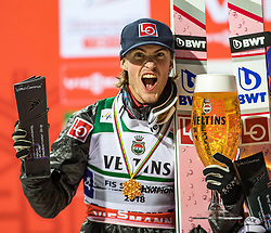 21.01.2018, Heini Klopfer Skiflugschanze, Oberstdorf, GER, FIS Skiflug Weltmeisterschaft, Teambewerb, Siegerehrung, im Bild Daniel Andre Tande (NOR) // Daniel Andre Tande of Norway during Winner Award Ceremony of the Team competition of the FIS Ski Flying World Championships at the Heini-Klopfer Skiflying Hill in Oberstdorf, Germany on 2118/01/21. EXPA Pictures © 2118, PhotoCredit: EXPA/ Peter Rinderer