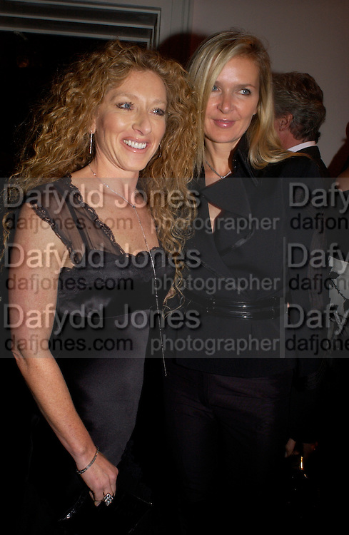 Kelly Hoppen and Amanda Wakeley, Hot Ice party hosted by Dominique Heriard Dubreuil and Theo Fennell, ( Remy Martin and theo Fennell) at 35 Belgrave Sq. London W1. 26 October 2004. ONE TIME USE ONLY - DO NOT ARCHIVE  © Copyright Photograph by Dafydd Jones 66 Stockwell Park Rd. London SW9 0DA Tel 020 7733 0108 www.dafjones.com