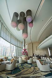 Interior of Etihad Jumeirah Hotel in Abu Dhabi, UAE, united Arab Emirates