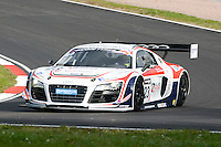 #23 Mark Patterson/Matt Bell - United Autosports, Audi R8 LMS ultra in practice for the 2014 British GT Championship at Oulton Park, Little Budworth, Chesihre, United Kingdom. 19th & 20th April 2014. World Copyright: Peter Taylor/PSP. Copy of publication required for printed pictures. Every used picture is fee-liable.  http://archive.petertaylor-photographic.co.uk