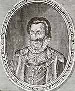 Henry IV of France (1553-1610) was King of France from 1589 to 1589 and King of Navarre from 1572-1610.  He was the first monarch of the Bourbon branch of the Capetian dynasty in France.  As a Huguenot, Henry was involved in the Wars of Religion before ascending the throne in 1589.  Henry VI was one of the most popular French Kings both during and after his reign.  He was assassinated by a fanatical Catholic.