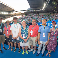 Hospitality on court on day four of the 2018 Australian Open in Melbourne Australia on Thursday January 18, 2018.<br /> (Ben Solomon/Tennis Australia)