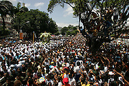Almost two million people get together in the Lady of Nazareth's procession. It is the biggest catholic gathering  in South America.
