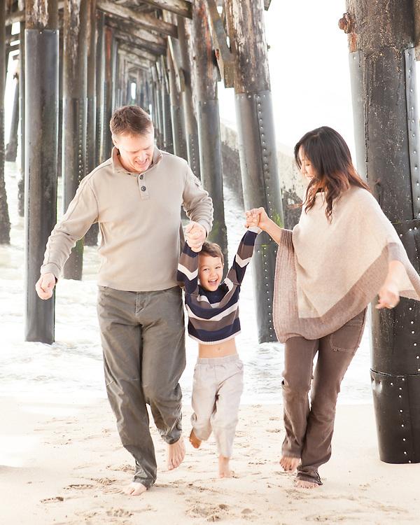 Family Portrait in Seal Beach