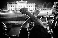 Hundreds of demonstrators march to the White House in protest after Gran Jury in St Louis County decided to not indict police Officer Darren Wilson in the shooting death of Michael Brown. November 24th, 2014<br /> photo: Hector Emanuel/ Metro Collective