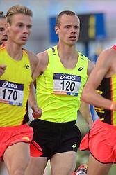 31-07-2015 NED: Asics NK Atletiek, Amsterdam<br /> Nk outdoor atletiek in het Olympische stadion Amsterdam /  winnaar Jurjen Polderman #170, Dennis Licht #120, 1500 meter