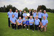 Eamon O'Connor Ulster Golf (R) present the winners pennant to Patrick Denning CO. Cavan Golf Club after the All Ireland Fourball Inter Club Ulster finals, Killymoon Golf Club, Cookstown, Tyrone, Northern Ireland. 25/08/2019.<br /> Picture Fran Caffrey / Golffile.ie<br /> <br /> All photo usage must carry mandatory copyright credit (© Golffile | Fran Caffrey)<br /> <br /> Team: Jim Greene, Jimmy Murray, Niall Sheridan, Frank O'Brien, Rodney Lyons, Pat McEnroe, Tony Hughes, Barry Gardiner and Brendan McClarey with reserves Paul Cooney and Paddy Marron.