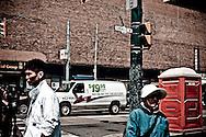 Pedestrians at Dundas Street, Tronto, Canada