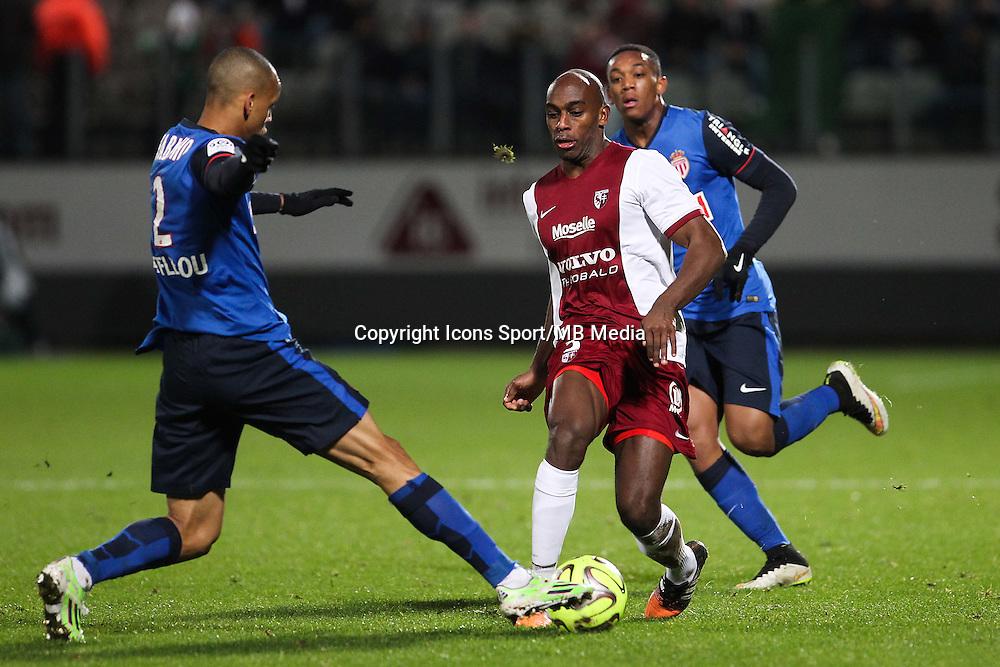 Jonathan RIVIEREZ - 20.12.2014 - Metz / Monaco - 17e journee Ligue 2<br />Photo : Fred Marvaux / Icon Sport