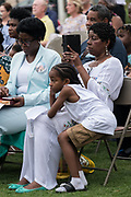 Relatives of the Emanuel 9, killed in a mass shooting at the historic Mother Emanuel African Methodist Episcopal Church, during the Pray for America service marking the 4th anniversary of the mass shooting June 19, 2019 in Charleston, South Carolina. Nine members of the historically black congregation were gunned down during bible study by a white supremacist on June 17, 2015.