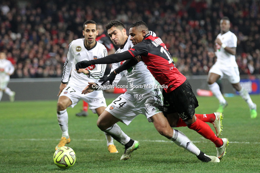 Christophe MANDANNE / Wesley LAUTOA  - 24.01.2015 - Guingamp / Lorient - 22eme journee de Ligue1<br />
