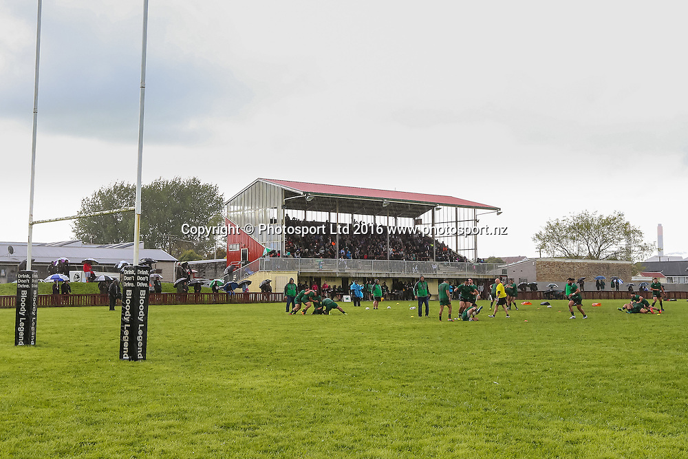 General view of Davies Park ahead of the Rugby League match - NZ Residents v NZ Maori XIII played at Davies Park, Huntly, New Zealand on Saturday 15 October 2016.
