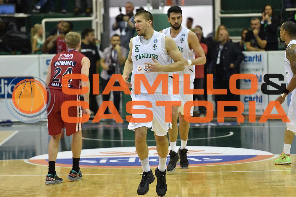 DESCRIZIONE : Avellino Lega A 2015-16 Sidigas Avellino EA7 Emporio Armani Milano<br /> GIOCATORE : Ivan Buva<br /> CATEGORIA : esultanza<br /> SQUADRA : Sidigas Avellino<br /> EVENTO : Campionato Lega A 2015-2016<br /> GARA : Sidigas Avellino EA7 Emporio Armani Milano<br /> DATA : 19/10/2015<br /> SPORT : Pallacanestro <br /> AUTORE : Agenzia Ciamillo-Castoria/GiulioCiamillo<br /> Galleria : Lega Basket A 2015-2016<br /> Fotonotizia : Roma Lega A 2015-16 Sidigas Avellino EA7 Emporio Armani Milano