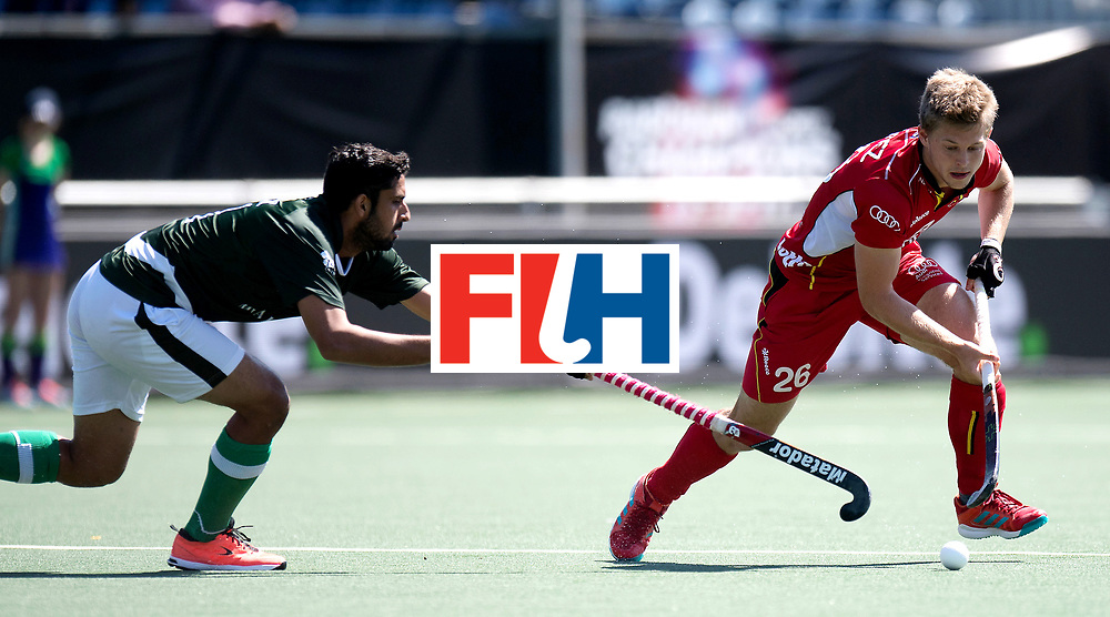 BREDA - Rabobank Hockey Champions Trophy<br /> 5th/6th place Belgium - Pakistan<br /> Photo: Victor Wegnez.<br /> COPYRIGHT WORLDSPORTPICS FRANK UIJLENBROEK
