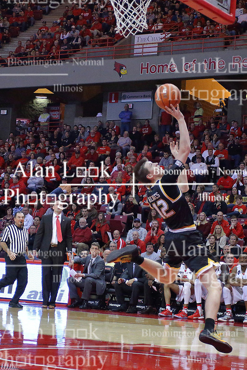 14 January 2017:  Austin Reaves during an NCAA  MVC (Missouri Valley conference) mens basketball game between the Wichita State Shockers the Illinois State Redbirds in  Redbird Arena, Normal IL