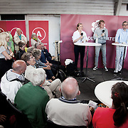Debat i den gamle brandstation mellem Mette Fredriksen og Søren Pind.