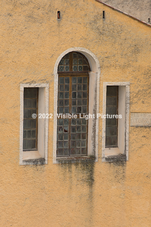 Church window in L'Escarene.