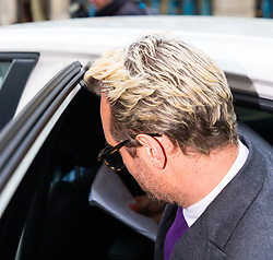 Eden Blackman leaves an employment tribunal in London where former Celebs Go Dating  co-host Nadia Essex is suing him for unfair dismissal. London, April 24 2019.
