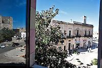 Alessano, 17 ottobre 2012. .Sede Municipale Comune di Alessano (LE). La costruzione risale al 1884. .Alessano è un comune italiano di 6.502 abitanti[3] della provincia di Lecce in Puglia..Situato nel basso Salento, comprende anche la frazione di Montesardo e la località costiera di Marina di Novaglie. In passato ricoprì un ruolo preminente su tutto il Capo di Leuca; fu sede dell'omonima diocesi dal X secolo al 1818 e capoluogo di contea..