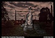 Tilted Monuments<br /> Laurel Hill Cemetery - Philadelphia<br /> July 2014
