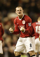 Photo: Aidan Ellis.<br /> Manchester United v Portsmouth. The FA Cup. 27/01/2007.<br /> United's Wayne Rooney celebrates his second goal