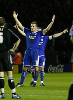 Photo: Steve Bond/Richard Lane Photography. Leicester City v Peterborough United. Coca-Cola Football League One. 20/12/2008. Steve Howard celebrates, with Matt Oakley closing in