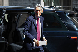 © Licensed to London News Pictures. 24/07/2018. London, UK. Chancellor of the Exchequer Philip Hammond arrives in Downing Street. Photo credit : Tom Nicholson/LNP
