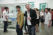 CONRAD SHAWCROSS AND PETROC SESTI, Beyond Belief-Damien Hirst. White Cube Hoxton and Mason's Yard.Party  afterwards at the Dorchester. Park Lane. 2 June 2007.  -DO NOT ARCHIVE-© Copyright Photograph by Dafydd Jones. 248 Clapham Rd. London SW9 0PZ. Tel 0207 820 0771. www.dafjones.com.